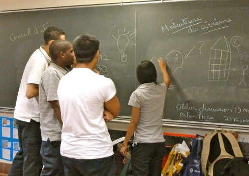 """Participants play """"draw me a safety principle"""" (based on the Equitas Draw me a Right game)"""