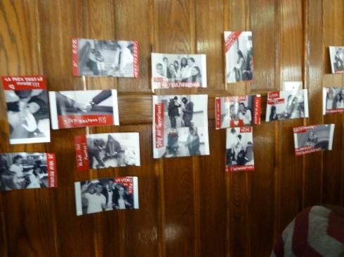 Les photos imaginées et réalisées par les participant(e)s pendant l'activité de L.O.V.E